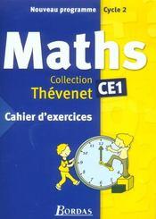 Mathémathiques ; CE1 ; cahier d'exercices (édition 2004) (édition 2004) - Intérieur - Format classique