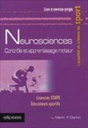 Neurosciences Controle Et Apprentissage Moteur Licences Staps Educateurs Sportifs - Intérieur - Format classique