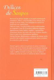 Delices de soupes - 4ème de couverture - Format classique