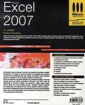 Excel 2007 - 4ème de couverture - Format classique