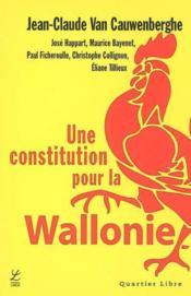 Constitution pour la Wallonie - Couverture - Format classique