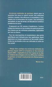 Anciennes Methodes De Guerison - 4ème de couverture - Format classique