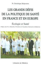 Ecologie Et Sante - Couverture - Format classique