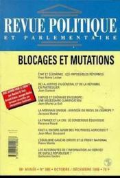 Rpp T.985 Octobre-Decembre 1996 ; Blocages Et Mutations - Couverture - Format classique