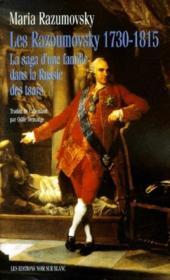 Les razoumovsky 1730 1815 - Couverture - Format classique
