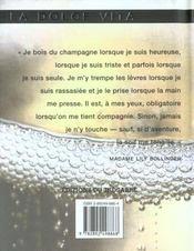 Champagne - 4ème de couverture - Format classique