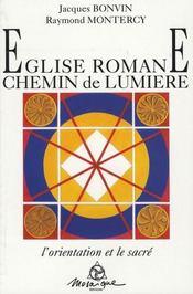 Eglise romane. chemin de lumiere - Intérieur - Format classique