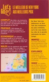 New York 2001 - 4ème de couverture - Format classique