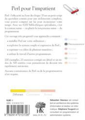 Perl pour l'impatient (2e édition) - 4ème de couverture - Format classique
