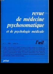 Revue De Medecine Psychosomatique Et De Psychologie Medicale Tome 23 N 1 - Couverture - Format classique
