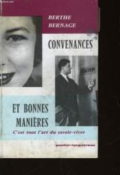 Convenances Et Bonnes Manieres - Couverture - Format classique