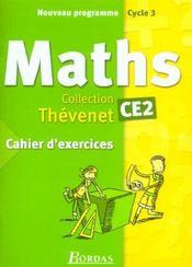 Mathématiques ; CE2 ; cahier d'exercices (édition 2002) - Intérieur - Format classique