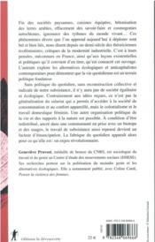 Quotidien politique : féminisme, écologie, subsistance - 4ème de couverture - Format classique