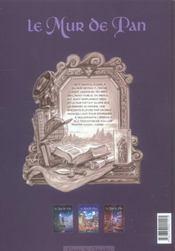 Le mur de Pan t.3 ; le fils du reveur - 4ème de couverture - Format classique