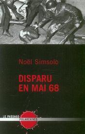 Disparu De Mai 68 - Intérieur - Format classique