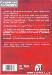 Le Guide Du Commercial. Comment Reussir Dans La Vente : Negocier, Convaincre, Re - 4ème de couverture - Format classique