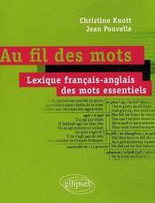 Au fil des mots ; dictionnaire français / anglais de l'essentiel - Couverture - Format classique