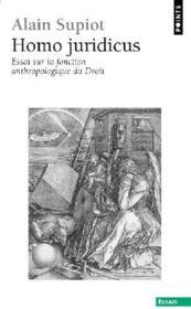 Homo juridicus ; essai sur la fonction anthropologique du droit - Couverture - Format classique