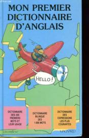 Mon Premier Dictionnaire D'Anglais - Couverture - Format classique