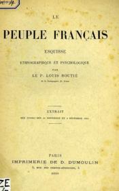 Le Peuple Francais, Esquisse Ethnographique Et Psychologique - Couverture - Format classique