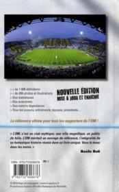 Dictionnaire officiel Olympique de Marseille - 4ème de couverture - Format classique