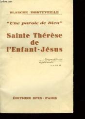 Sainte Thérèse de l'Enfant-Jésus. - Couverture - Format classique
