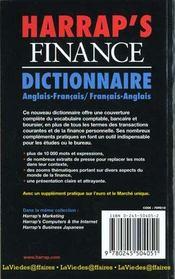 Harrap'S Finance - 4ème de couverture - Format classique