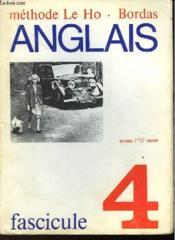 ANGLAIS FASCICULE 4 - NIVEAU 1ère/2ème ANNEE - Couverture - Format classique