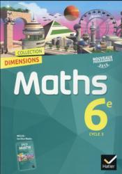 DIMENSIONS ; mathématiques ; 6ème ; manuel de l'élève (édition 2016) - Couverture - Format classique