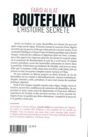 Bouteflika, l'histoire secrète - 4ème de couverture - Format classique