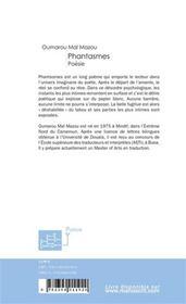 Phantasmes - 4ème de couverture - Format classique