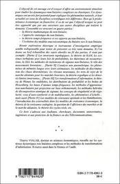 Dynamiques Non Lineaires, Chaotiques En Finance Et Economie - 4ème de couverture - Format classique