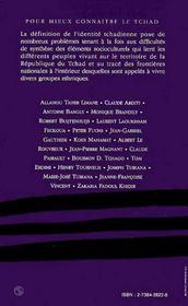 L'Identite Tchadienne ; L'Heritage Des Peuples Et Les Apports Exterieurs - 4ème de couverture - Format classique