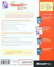 Atelier microsoft visual c++ 6.0 (+cd-rom) - livre+cd-rom - 4ème de couverture - Format classique
