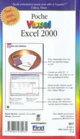 Poche visuel excel 2000 - 4ème de couverture - Format classique