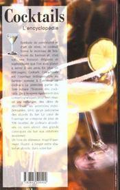 L'encyclopedie des cocktails - 4ème de couverture - Format classique