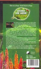Soigner son jardin au naturel - 4ème de couverture - Format classique