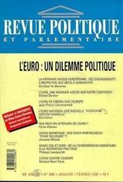Rpp T.986 Janvier-Fevrier 1997 ; L'Euro Dilemme - Couverture - Format classique