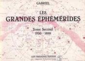 Grandes Ephemerid.T2(1700-1899 - Couverture - Format classique