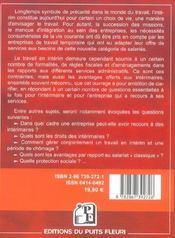 Travailler en interim. guide juridique et pratique. cadre juridique et social.dr - 4ème de couverture - Format classique