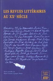 Revue litteraires au xxe siecle - Intérieur - Format classique