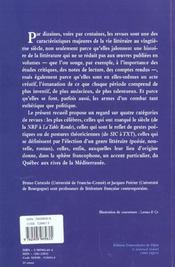 Revue litteraires au xxe siecle - 4ème de couverture - Format classique