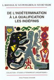 De L Indetermination A La Qualification Les Indefinis - Intérieur - Format classique