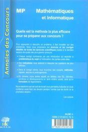 Mp - 4ème de couverture - Format classique