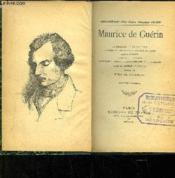 Maurice de Guérin. Le Centaure, La Bacchante, Glaucus, Promenade à travers la Lande, Sainte Thérèse ... - Couverture - Format classique