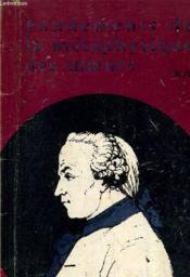 Fondements De La Metaphysique Des Moeurs. - Couverture - Format classique