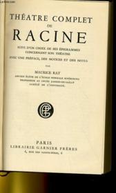 Theatre Complet De Racine - Couverture - Format classique