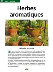 Herbes aromatiques - Couverture - Format classique