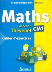 Mathématiques ; CM1 ; cahier d'exercices (édition 2002) - Intérieur - Format classique