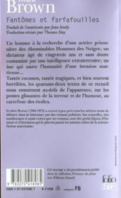 Fantômes et farfafouilles - Couverture - Format classique